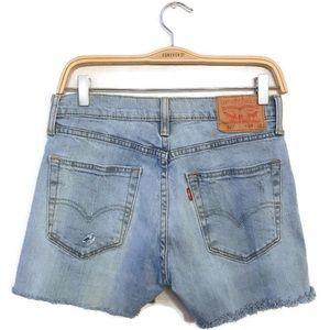 Levi's 501 Denim Cut Offs Raw Hem Jean Shorts 29 8